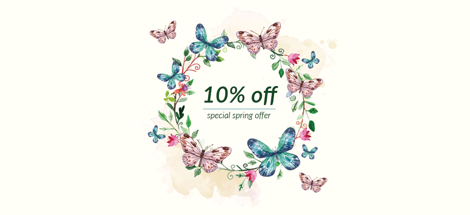 Special spring 10% discount offer